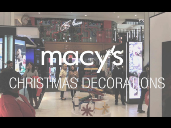 Macy's Christmas Decorations in NYC