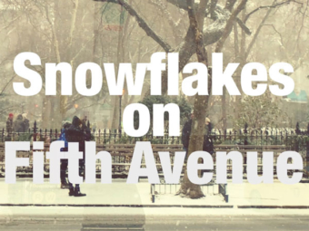 Snowflakes on Fifth Avenue